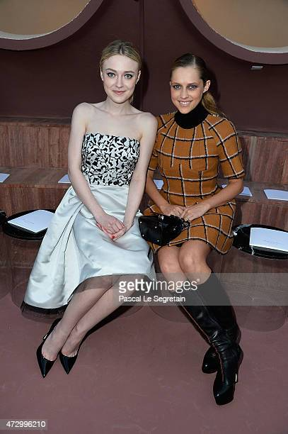 Dakota Fanning and Teresa Palmer attend the Dior Croisiere 2016 at Palais Bulle on May 11 2015 in Theoule sur Mer France