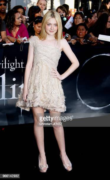 """Dakota Fanning at the Los Angeles Premiere of """"The Twilight Saga: Eclipse"""" held at the Nokia LA Live Theater in Los Angeles, USA on June 24, 2010."""