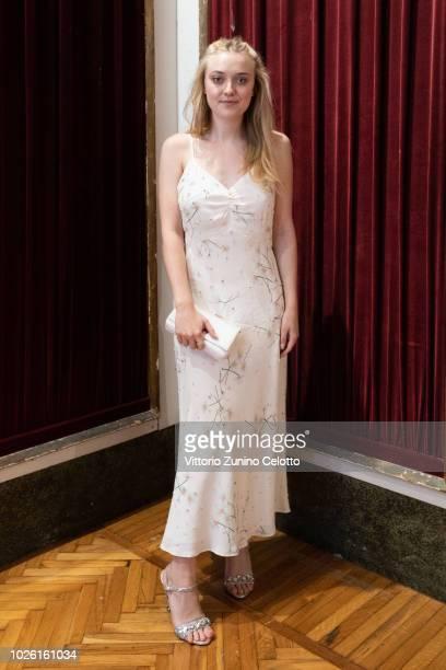 Dakota Fanning attends 2018 Women's Tales photocall during the 75th Venice Film Festival at Villa degli Autori on September 2 2018 in Venice Italy