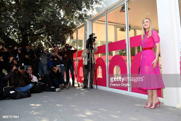 Dakota Fanning attends 'Please Stand By' photocall during the 12th Rome Film Fest at Casa Alice on October 31 2017 in Rome Italy