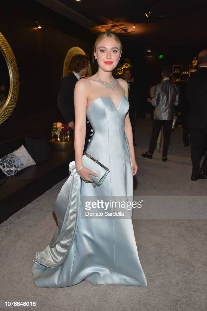 Dakota Fanning attends the 2019 InStyle and Warner Bros 76th Annual Golden Globe Awards PostParty at The Beverly Hilton Hotel on January 6 2019 in...
