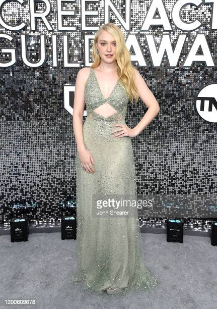 Dakota Fanning attends the 26th Annual Screen Actors Guild Awards at The Shrine Auditorium on January 19 2020 in Los Angeles California