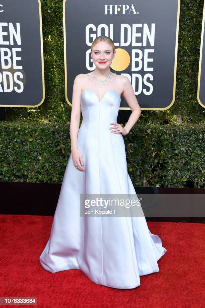 Dakota Fanning attends the 76th Annual Golden Globe Awards at The Beverly Hilton Hotel on January 6 2019 in Beverly Hills California
