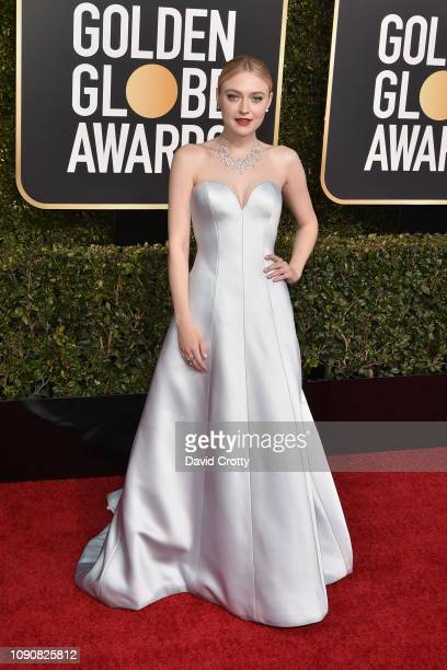 Dakota Fanning attends the 76th Annual Golden Globe Awards at The Beverly Hilton Hotel on January 06 2019 in Beverly Hills California