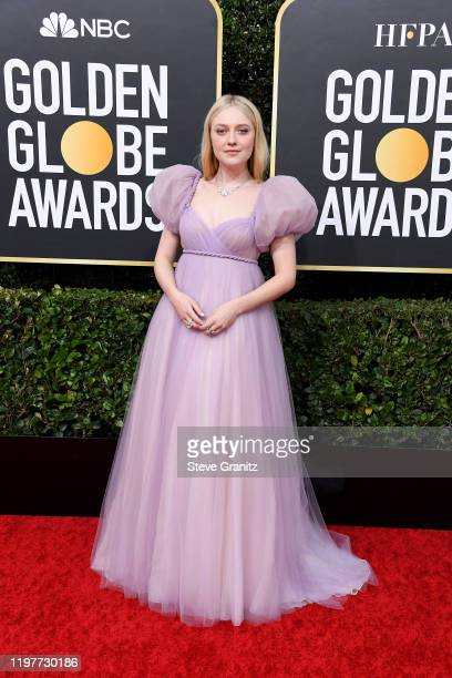 Dakota Fanning attends the 77th Annual Golden Globe Awards at The Beverly Hilton Hotel on January 05, 2020 in Beverly Hills, California.