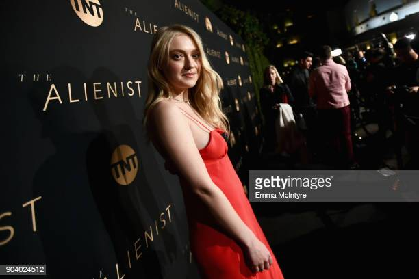 Dakota Fanning attends The Alienist - LA Premiere Event at Paramount Studios on January 11, 2018 in Hollywood, California. 26144_017