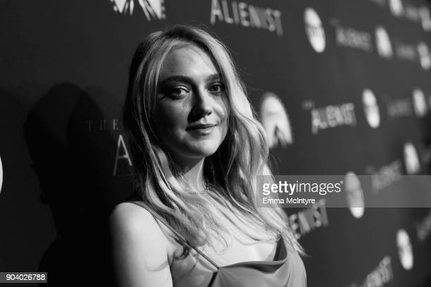 """Dakota Fanning attends """"The Alienist"""" LA Premiere Event at Paramount Studios on January 11, 2018 in Hollywood, California. 26144_017"""