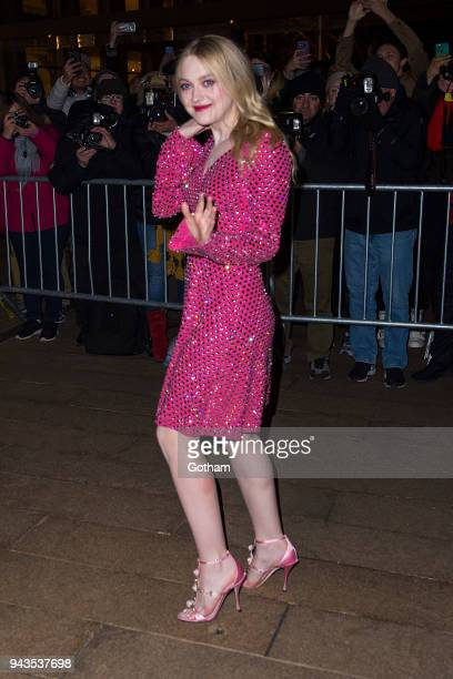 Dakota Fanning attends the Dolce Gabbana Alta Moda 2018 collection at the Metropolitan Opera House at Lincoln Center on April 8 2018 in New York City