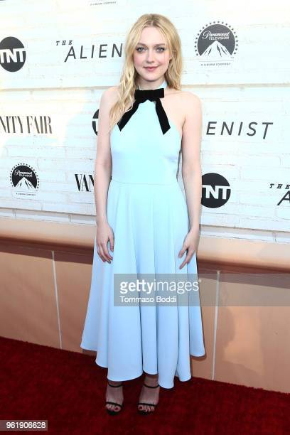 """Dakota Fanning attends the Emmy For Your Consideration Red Carpet Event For TNT's """"The Alienist"""" at Wallis Annenberg Center for the Performing Arts..."""
