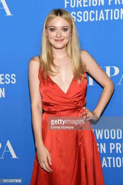 Dakota Fanning attends the Hollywood Foreign Press Association's Grants Banquet at The Beverly Hilton Hotel on August 9 2018 in Beverly Hills...