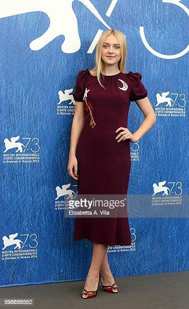 Dakota Fanning attends the photocall of 'Brimstone' during the 73rd Venice Film Festival at on September 3 2016 in Venice Italy