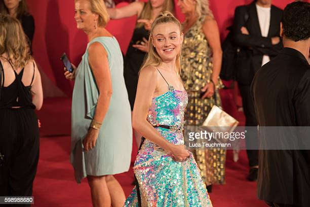 Dakota Fanning attends the premiere of 'Brimstone' during the 73rd Venice Film Festival at Sala Grande on September 3 2016 in Venice Italy