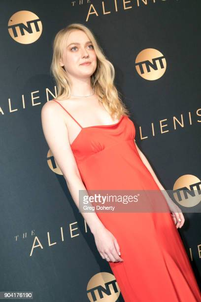 Dakota Fanning attends the Premiere Of TNT's 'The Alienist' on January 11 2018 in Hollywood California