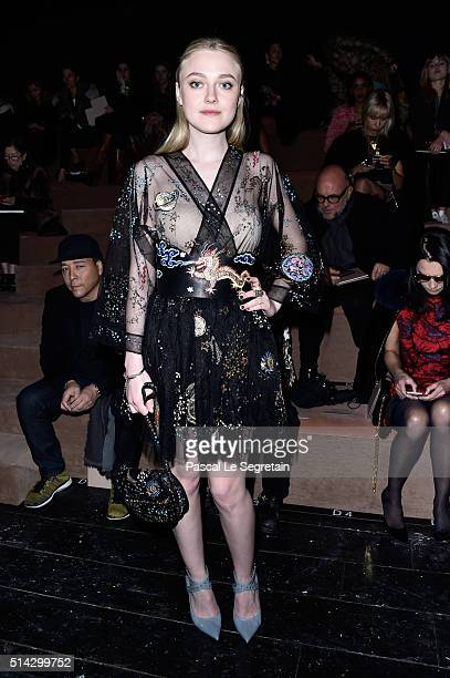 Dakota Fanning attends the Valentino show as part of the Paris Fashion Week Womenswear Fall/Winter 2016/2017 on March 8 2016 in Paris France