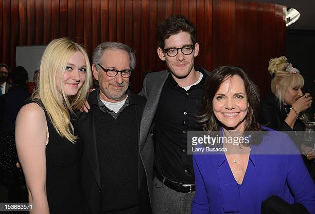 Dakota Fanning Director Steven Spielberg Sawyer Avery Spielberg and Sally Field attend NYFF 50th Anniversary surprise screening of Lincoln at Alice...