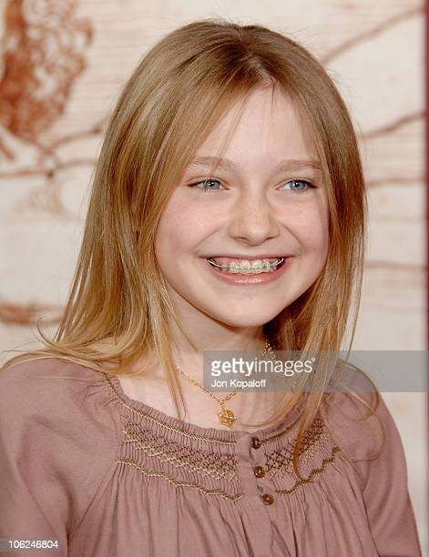 Dakota Fanning during Charlotte's Web Los Angeles Premiere Arrivals at ArcLight Theatre in Hollywood California United States