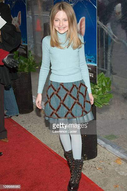 Dakota Fanning during Charlotte's Web New York Premiere at Clearview Chelsea West in New York City New York United States
