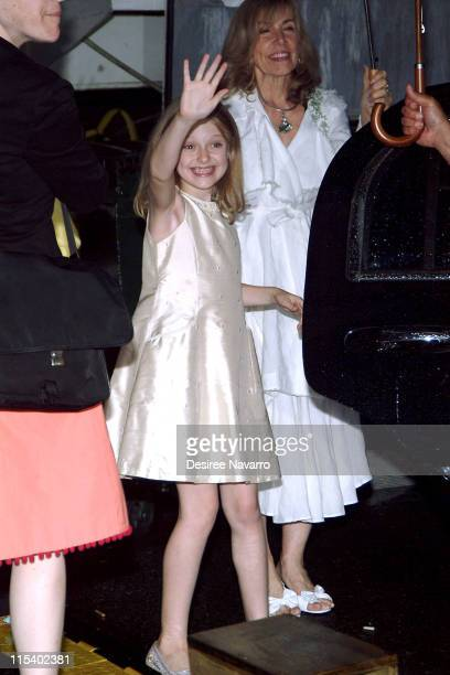 Dakota Fanning during Dakota Fanning Appears Outside 'The Late Show with David Letterman' June 29 2005 at Ed Sullivan Theater in New York City New...