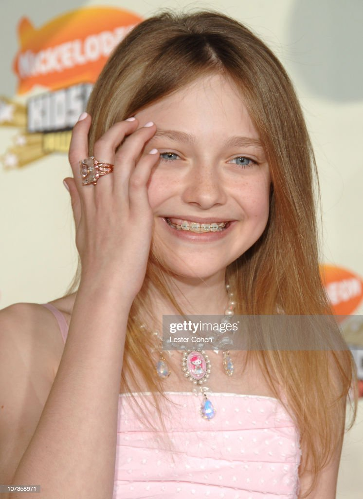 Dakota Fanning during Nickelodeon's 20th Annual Kids' Choice Awards - Arrivals at Pauley Pavilion in Westwood, California, United States.