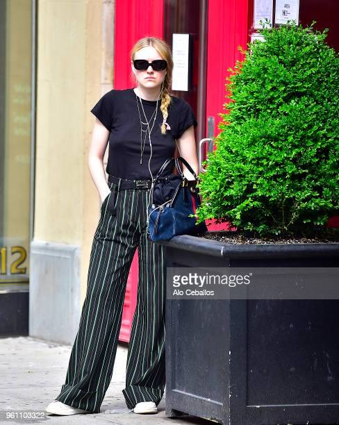 Dakota Fanning is seen in Soho on May 21 2018 in New York City