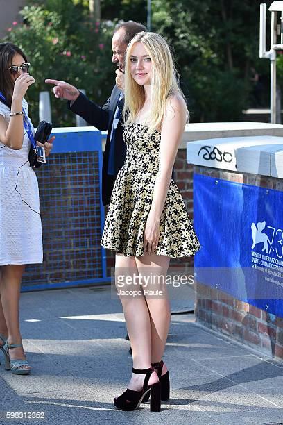 Dakota Fanning is seen is seen during the 73rd Venice Film Festival on September 1 2016 in Venice Italy