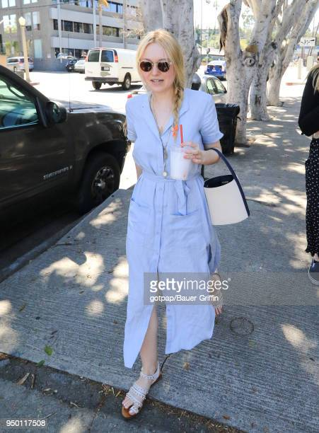 Dakota Fanning is seen on April 22 2018 in Los Angeles California