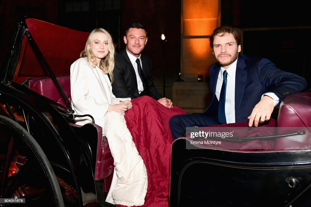 Dakota Fanning, Luke Evans and Daniel Bruhl attend The Alienist - LA Premiere Event at Paramount Studios on January 11, 2018 in Hollywood, California. 26144_017