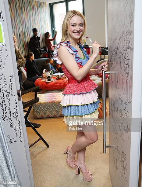 Dakota Fanning of American Pastoral signs her autograph at the Build Series at AOL HQ on October 20 2016 in New York City