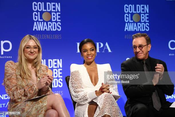 Dakota Fanning Susan Kelechi Watson and Tim Allen attend the 77th Annual Golden Globe Awards Nominations Announcement at The Beverly Hilton Hotel on...