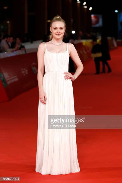 Dakota Fanning walks a red carpet for 'Please Stand By' during the 12th Rome Film Fest at Auditorium Parco Della Musica on October 31, 2017 in Rome,...