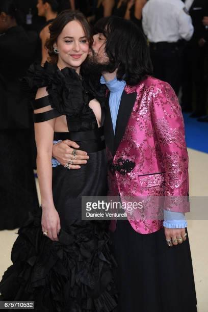 Dakota Johnson and Alessandro Michele attend 'Rei Kawakubo/Comme des Garcons Art Of The InBetween' Costume Institute Gala Arrivals at Metropolitan...