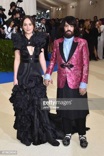 Dakota Johnson and Alessandro Michele attend the 'Rei Kawakubo/Comme des Garcons Art Of The InBetween' Costume Institute Gala at Metropolitan Museum...