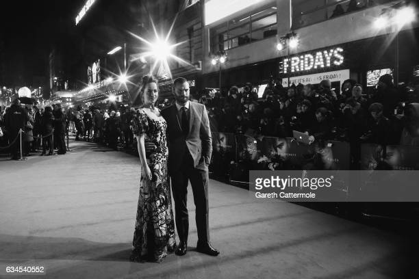 Dakota Johnson and Jamie Dornan attend the 'Fifty Shades Darker' UK Premiere on February 9 2017 in London United Kingdom