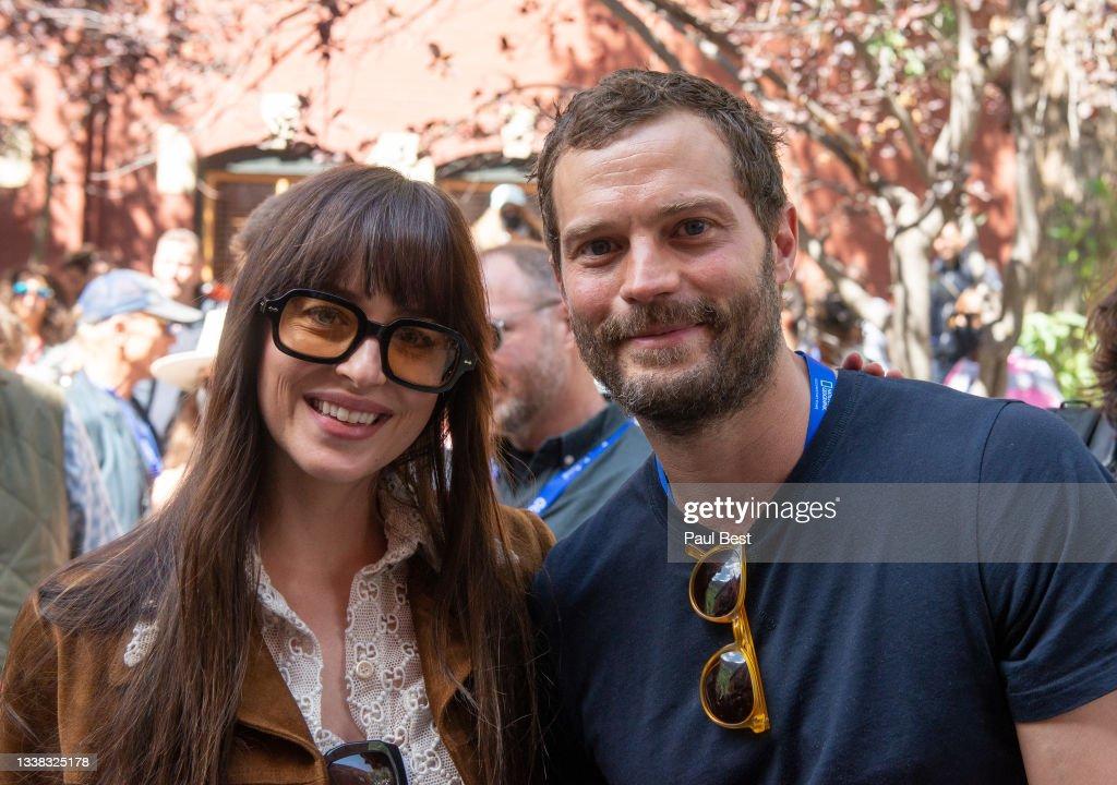 Dakota Johnson and Jamie Dornan attend the Telluride Film