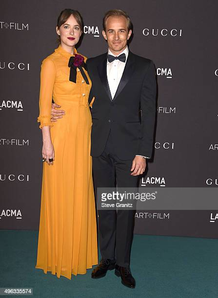 Dakota Johnson and Jesse Johnson arrive at the LACMA 2015 ArtFilm Gala Honoring James Turrell And Alejandro G Inarritu Presented By Gucci at LACMA on...