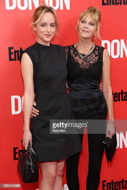 Dakota Johnson and Melanie Griffith attend the 'Don Jon' New York premiere at SVA Theater on September 12 2013 in New York City