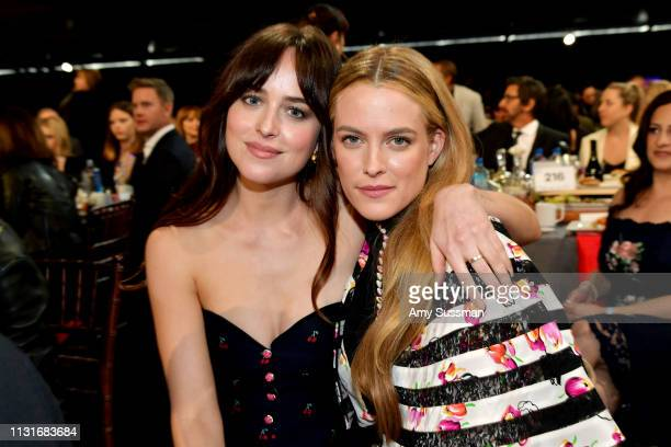 Dakota Johnson and Riley Keough pose during the 2019 Film Independent Spirit Awards on February 23 2019 in Santa Monica California
