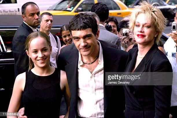 Dakota Johnson, Antonio Banderas and Melanie Griffith