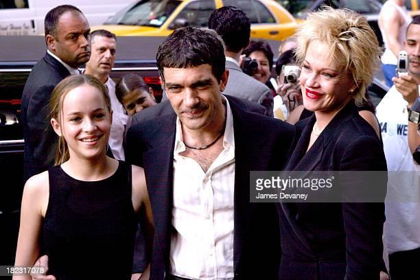 Dakota Johnson Antonio Banderas and Melanie Griffith
