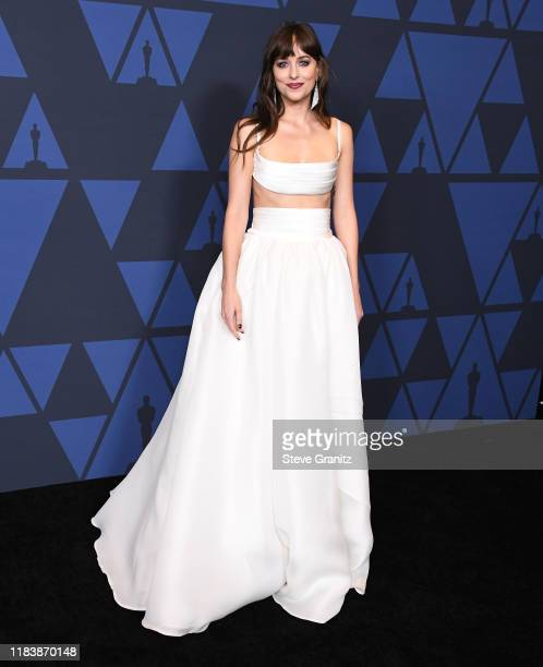 Dakota Johnson arrives at the Academy Of Motion Picture Arts And Sciences' 11th Annual Governors Awards at The Ray Dolby Ballroom at Hollywood...