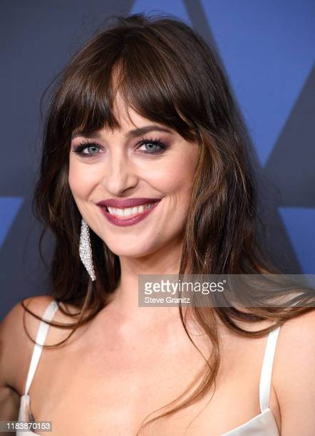 Dakota Johnson arrives at the Academy Of Motion Picture Arts And Sciences' 11th Annual Governors Awards at The Ray Dolby Ballroom at Hollywood &...