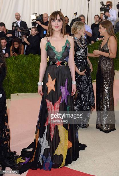 Dakota Johnson arrives for the 'Manus x Machina Fashion In An Age Of Technology' Costume Institute Gala at Metropolitan Museum of Art on May 2 2016...