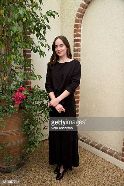 Dakota Johnson at the 'Fifty Shades Darker' Press Conference at a private location on January 27 2017 in West Hollywood California