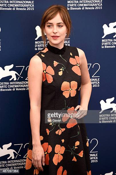 Dakota Johnson attends a photocall for 'A Bigger Splash' during the 72nd Venice Film Festival at Palazzo del Casino on September 6 2015 in Venice...