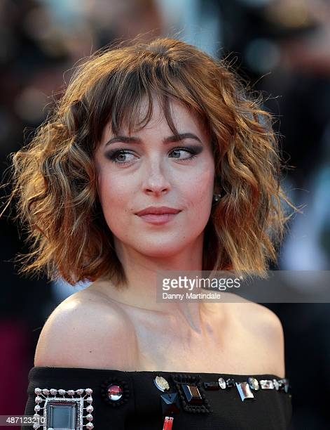 Dakota Johnson attends a premiere for 'A Bigger Splash' during the 72nd Venice Film Festival at on September 6 2015 in Venice Italy