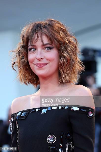 Dakota Johnson attends a premiere for 'A Bigger Splash' during the 72nd Venice Film Festival at Sala Grande on September 6 2015 in Venice Italy