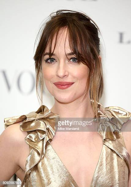 Dakota Johnson attends at Vogue 100 A Century Of Style atNational Portrait Gallery on February 9 2016 in London England