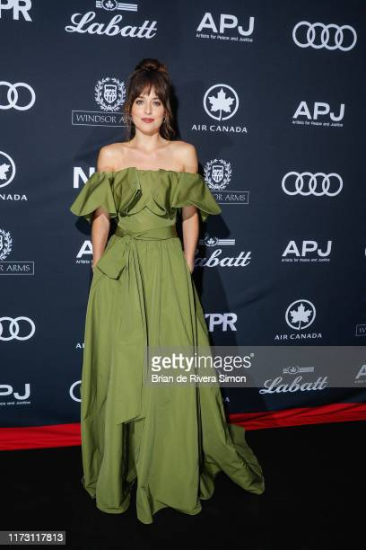 Dakota Johnson attends Audi Canada Co-hosts The Artist For Peace And Justice Festival Gala During The Toronto International Film Festival at Windsor...