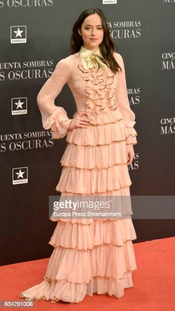 Dakota Johnson attends 'Fifty Shades Darker' premiere at Kinepolis cinema on February 8 2017 in Madrid Spain