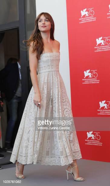 Dakota Johnson attends 'Suspiria' photocall during the 75th Venice Film Festival at Sala Casino on September 1 2018 in Venice Italy